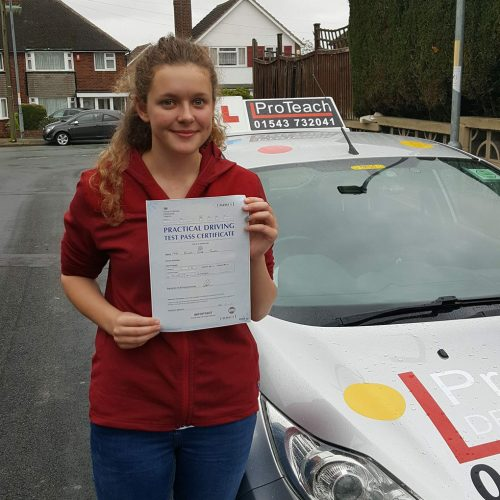 Emma Tonks, another pass in Lichfield