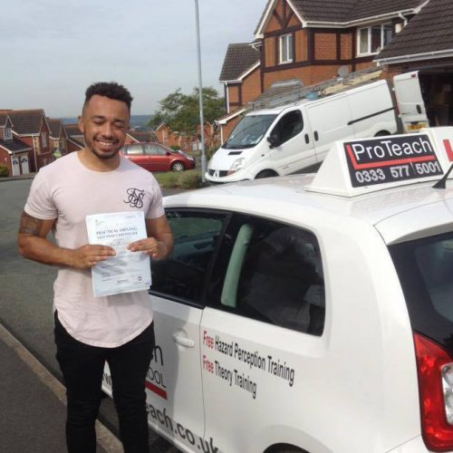 Josh Davidson passes his test after his intensive lessons