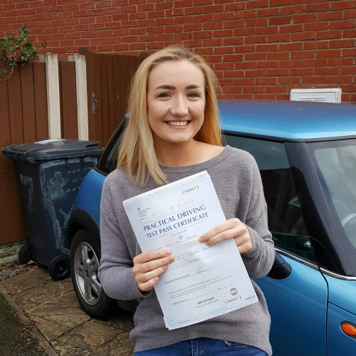 Katie passes her driving test