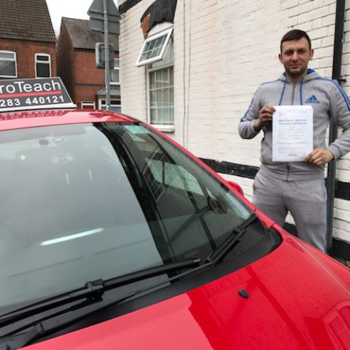 What a drive for Arnoldas who passes with only 2 driving faults