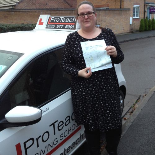 Hayley passes first attempt after taking an intensive course