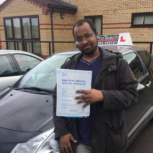 Good driving for Abdullahi Mohamed
