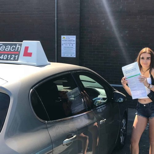 JUst 3 driving faults for Julia Balicka