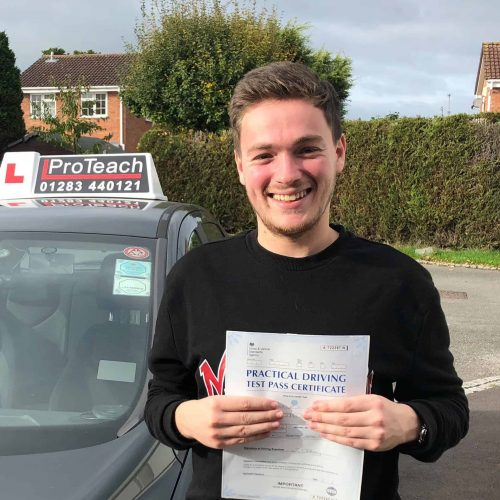 Josh Wooton passes first time