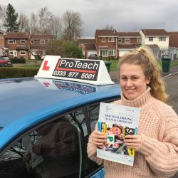 Intensive driving course pass for Holly Hardgrave