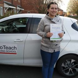 Automatic Driving Test Pass for Irena Aleksejva