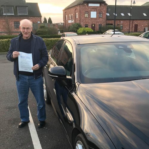 Julian Pitkin passes his auto test