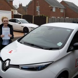 Libby Yeomans passed her automatic driving test.