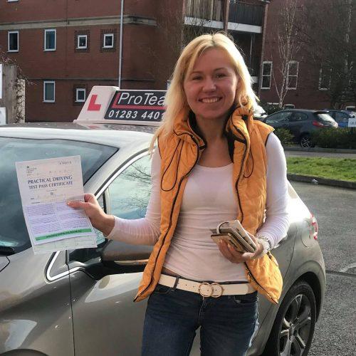 Kristina gains her full licence