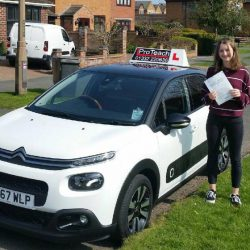 First Time pass for Chloe Pavey