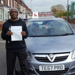 Kenneth Mendez now holds a full driving licence