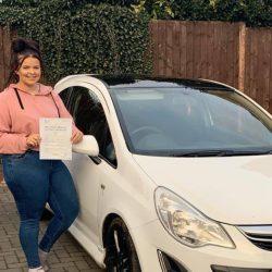 Just 3 driving faults for Chloe Lloyd