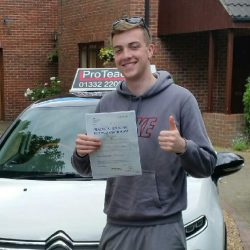 Just 2 driving faults for James Archer