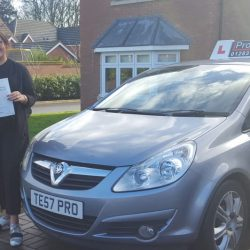 Driving Test Pass for Morgan Cowell