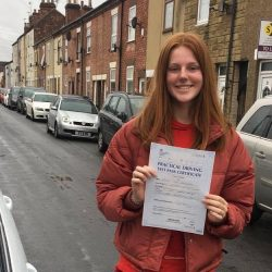 Ellie passes her driving test