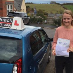 Hannah passes first time