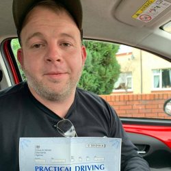 Paul Carver passes his automatic driving test in lichfield